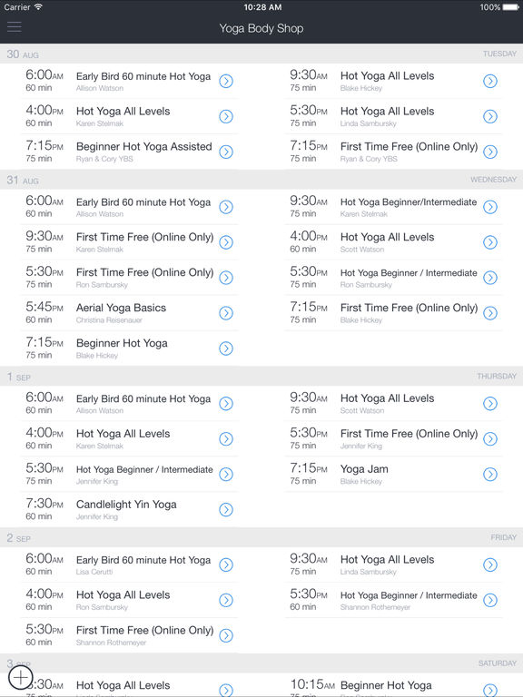 Yoga Body Shop screenshot 2