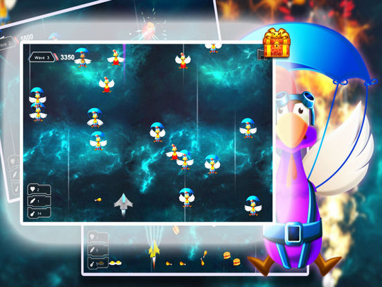 Space Shooter Chicken: War Ship screenshot 6