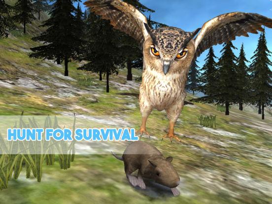 Forest Owl Simulator - Be a wild bird! screenshot 6