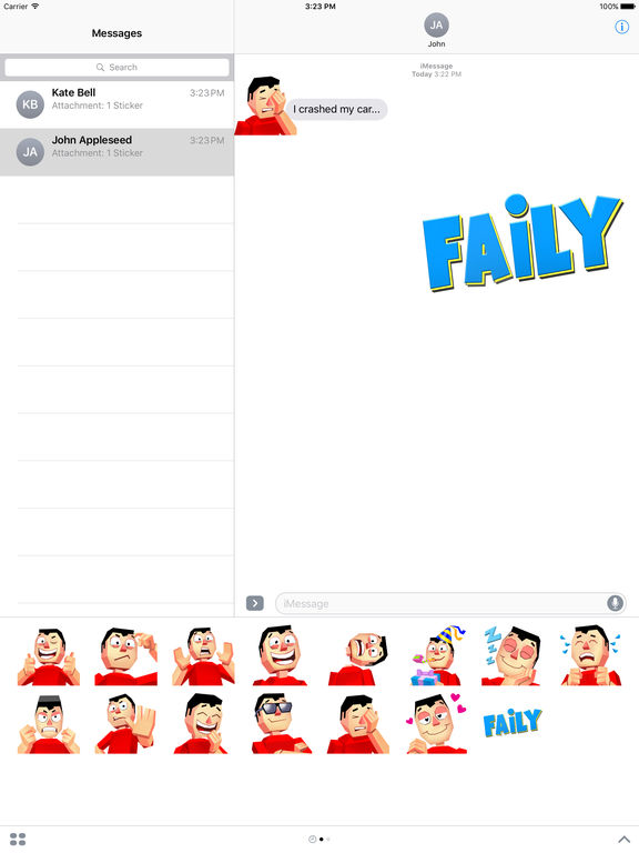 Faily Stickers screenshot 4