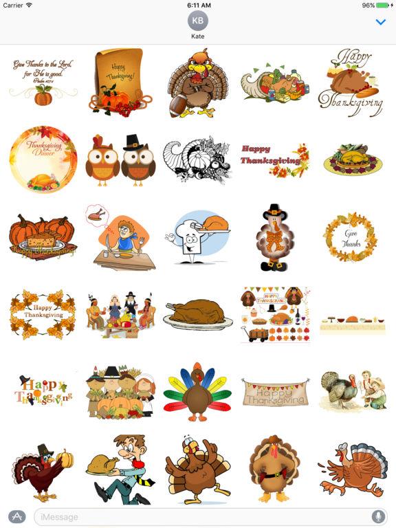 Thanksgiving Art for iMessage screenshot 3