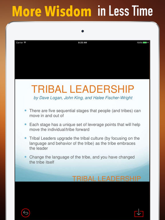 Quick Wisdom from Tribal Leadership-Natural Groups screenshot 6