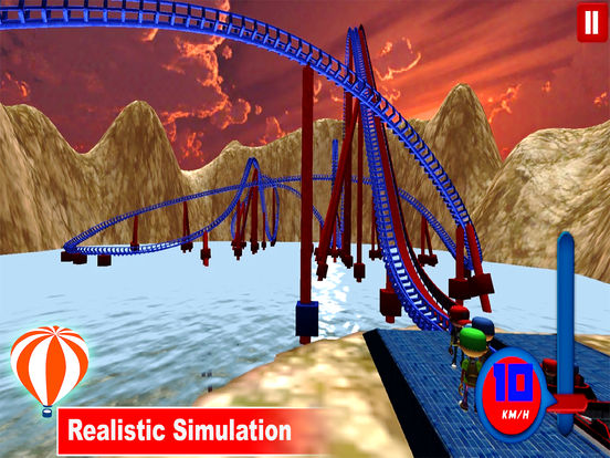 Desert Tycoon Roller Coaster : 3D Lake simulation screenshot 7