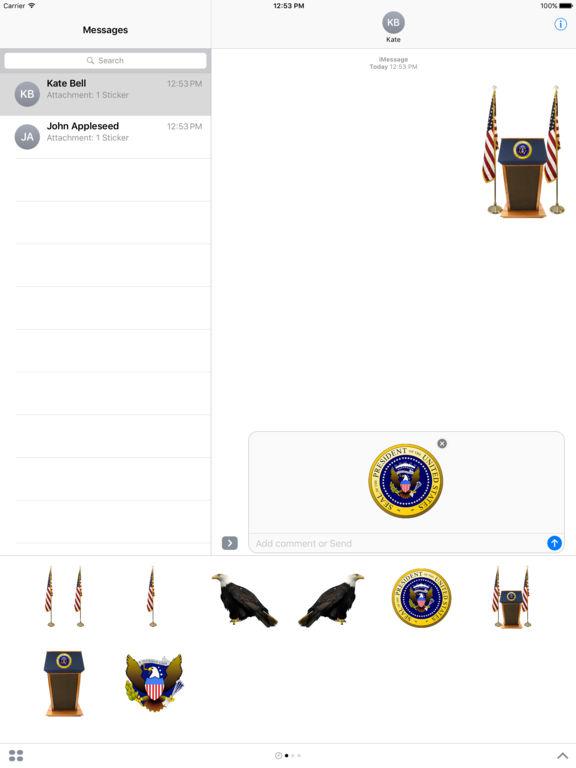 Presidential Stickers screenshot 2