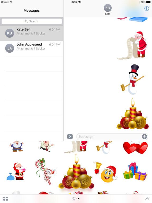 Christmas Set Stickers for iMessage screenshot 8