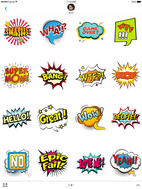 Comic Stickers For iMessage screenshot 4