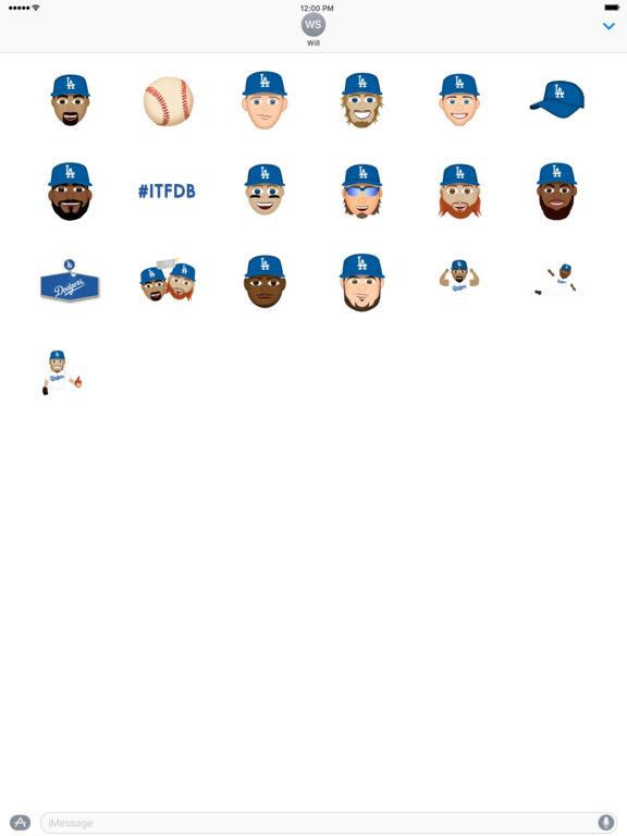 Los Angeles Dodgers 2016 MLB Sticker Pack screenshot 3