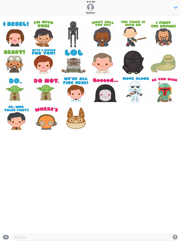 Star Wars Stickers2 screenshot 5