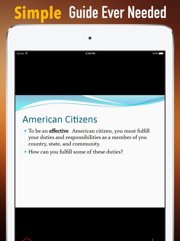 US Citizenship Test Study Guide|Glossary,Exam Prep screenshot 7