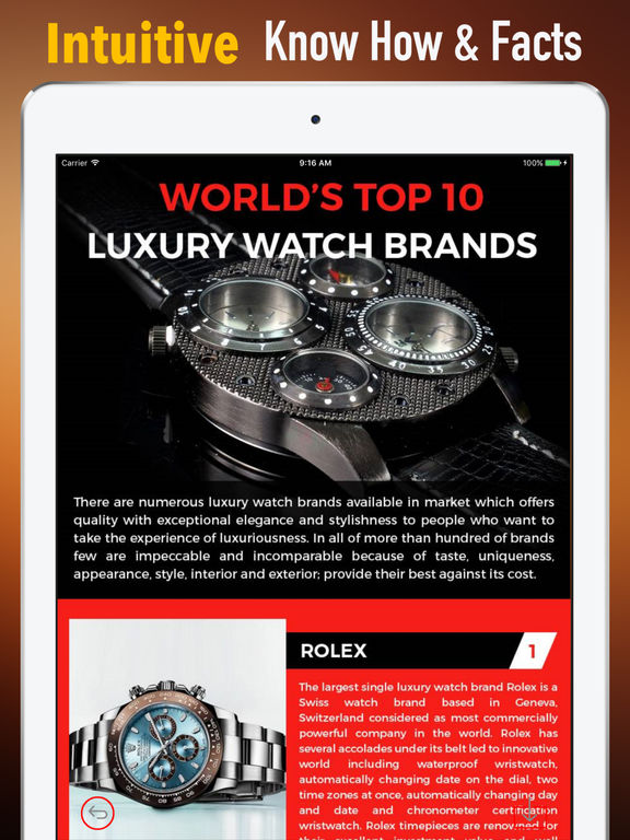 Luxury Watches Guide-Tips and Tutorial screenshot 6