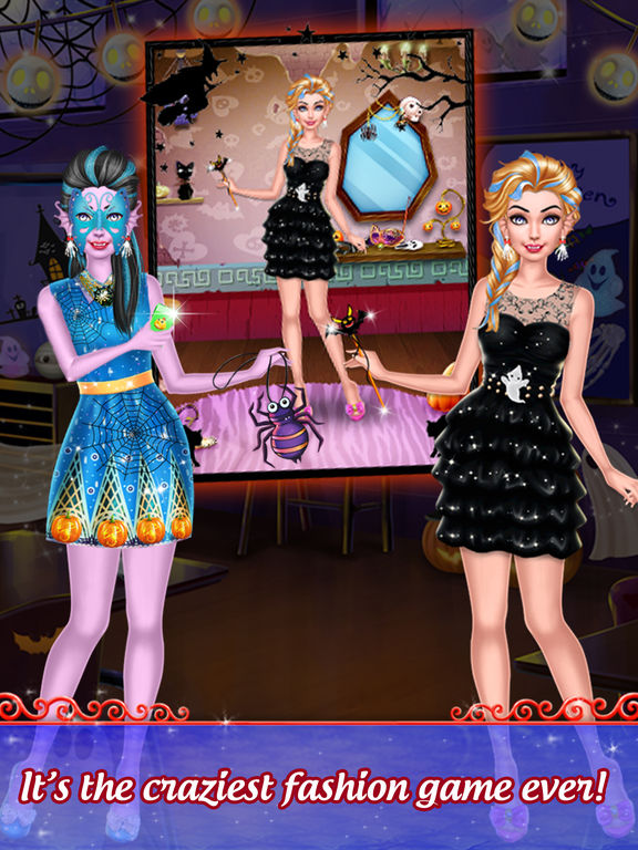 Pretty Halloween Girls Makeup screenshot 9