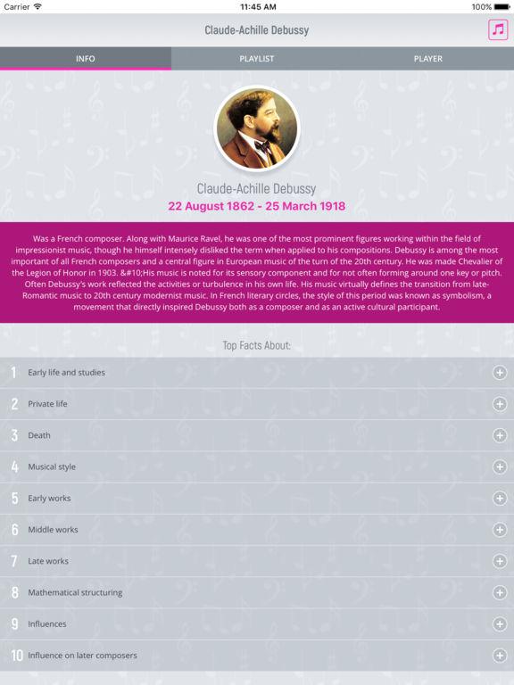 Claude Debussy - Classical Music screenshot 5
