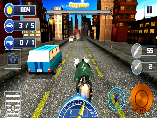 City Bike Shooter 3D screenshot 6