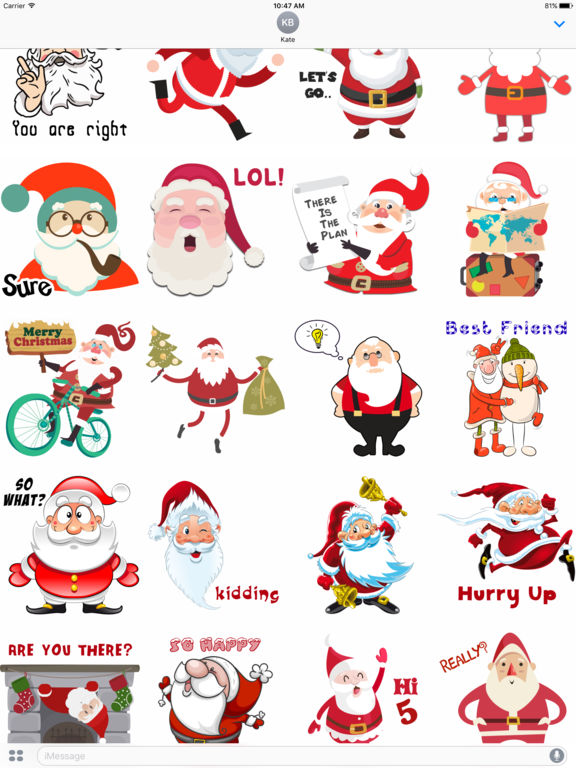 Santa Stickers - Santa Claus Stickers for iMessage screenshot 4