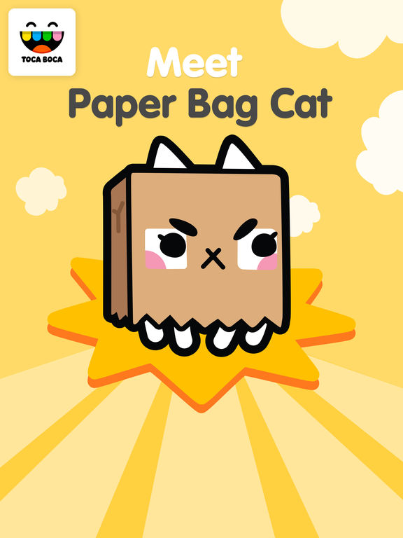 Toca Life Paper Bag Cat screenshot 7