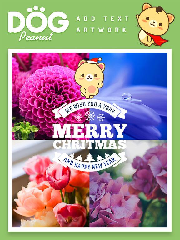 Peanut Dog Collage - Christmas and New Year Emoji screenshot 10