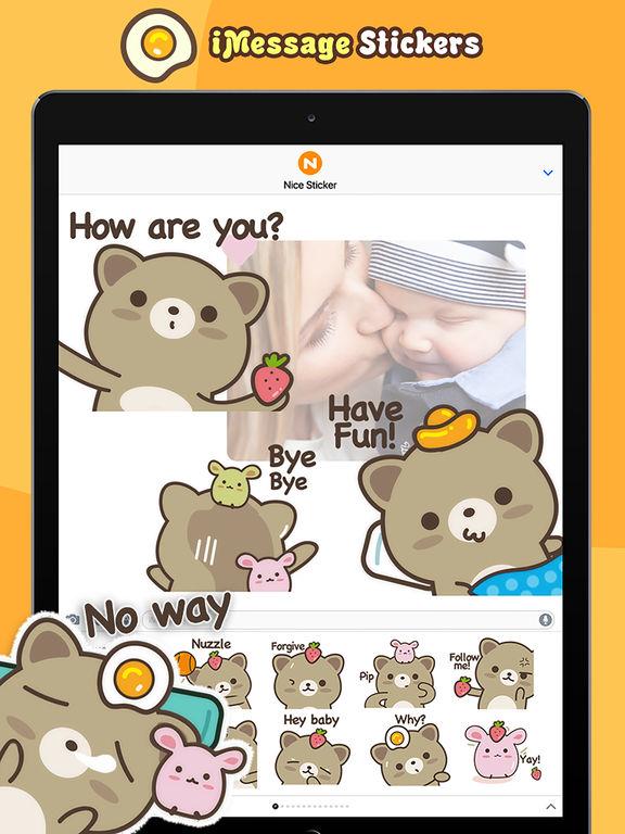 Strawberry Cat - Cute Stickers by NICE Sticker screenshot 8