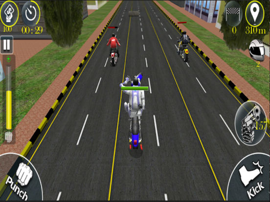 Bike Stunt Fight - Attack Race screenshot 7