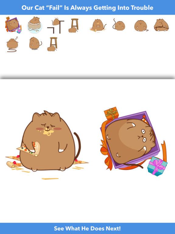 Cat Fail - Animated Stickers screenshot 4