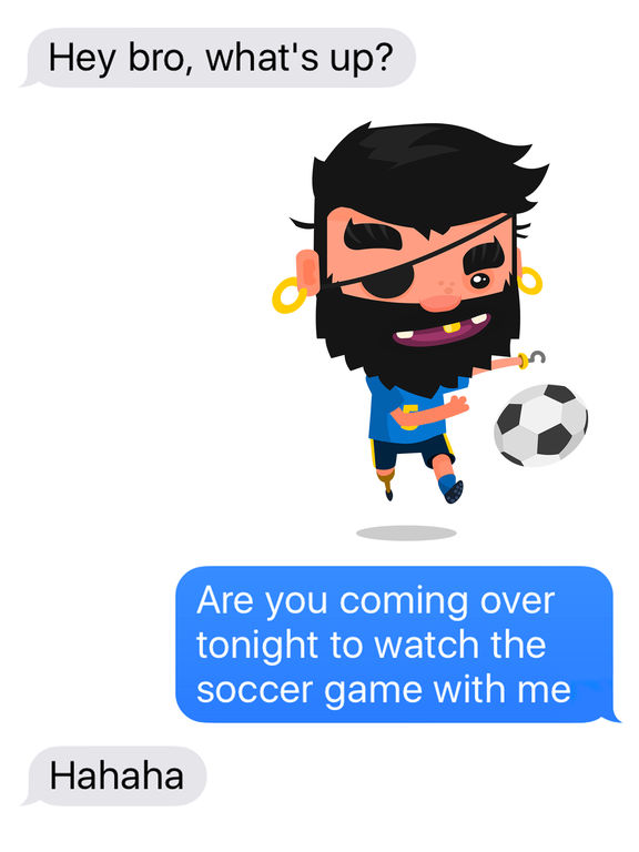 Pirate Kings Stickers for Apple iMessage screenshot 5