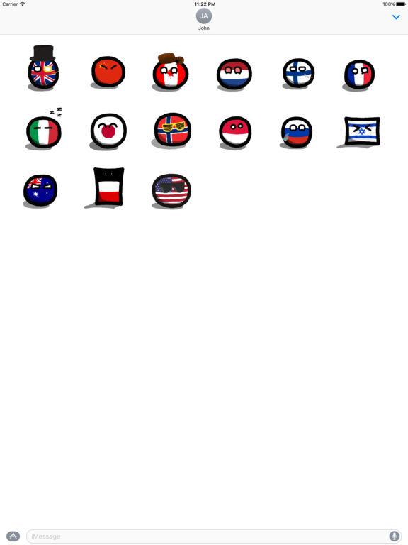 countryballs stickers