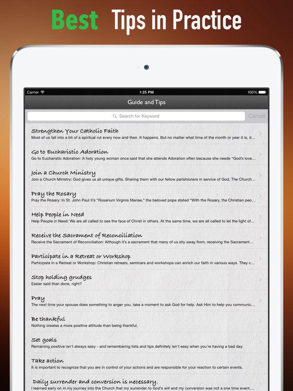 Catholic Faith Handbook:Tips and Tutorials screenshot 9