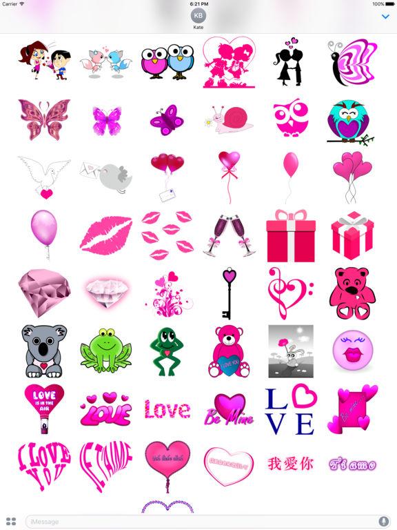 Pink Love • Emoji and stickers screenshot 7