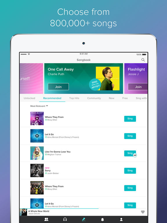 best karaoke app for iphone sing karaoke by screenshot 7078