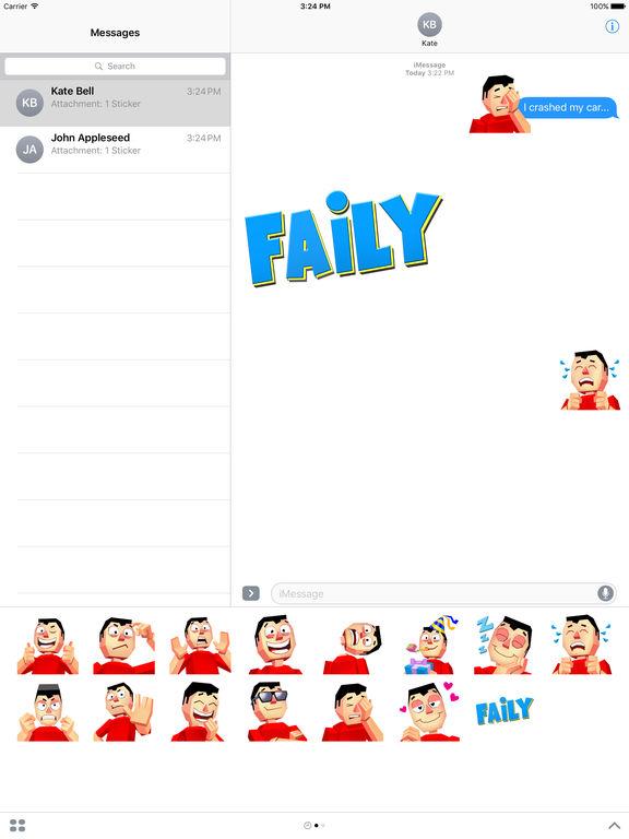 Faily Stickers screenshot 5