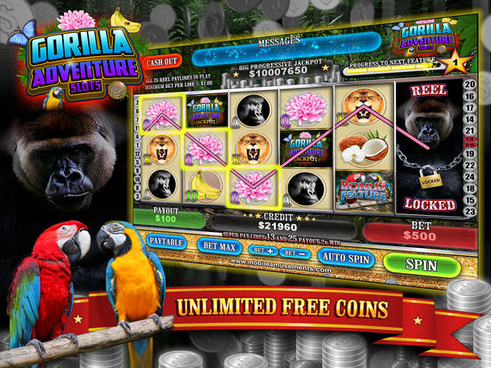 Gorilla Adventure Slots screenshot 6