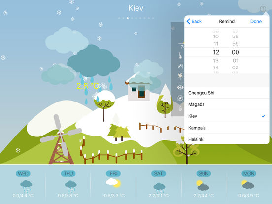 Cute Weather for iPad and iPhone screenshot 10
