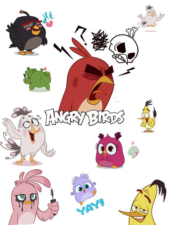 Angry Birds Stickers screenshot 5