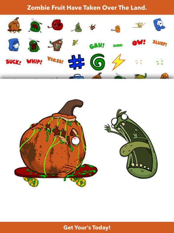 Zombie Fruit - Animated Stickers screenshot 7
