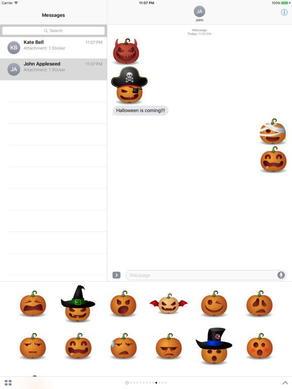 Halloween Emoji Text: Halloween Pumpkin Emoji For IMessage