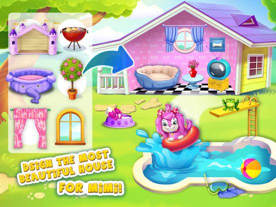 Pink Dog Mimi - My Virtual Pet Puppy Care & Games screenshot 7
