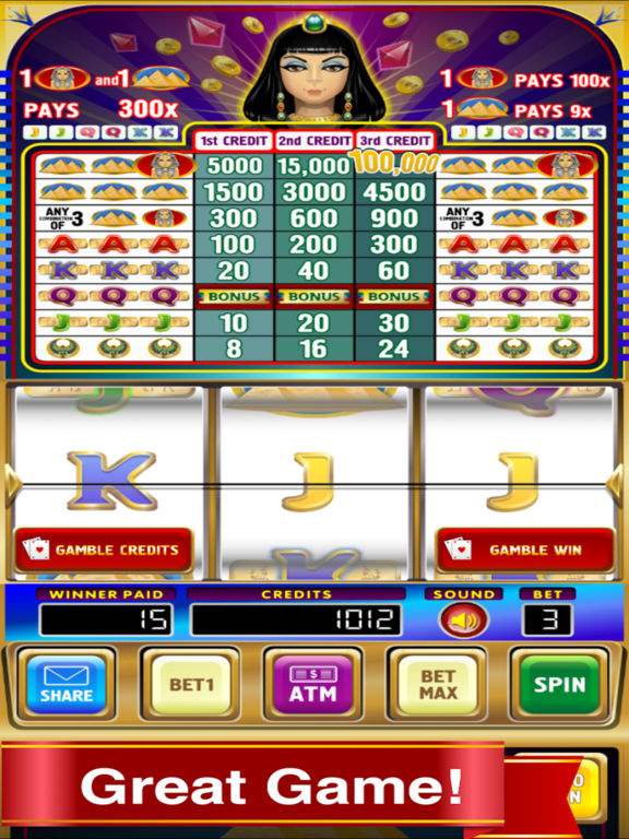 Triple Pharaoh's Way Slot Machine Pro Edition screenshot 6