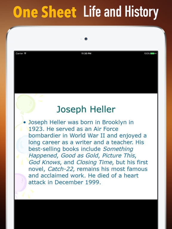 Biography and Quotes for Joseph Heller screenshot 7