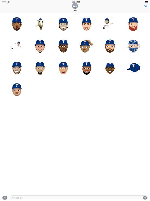 Texas Rangers 2016 MLB Sticker Pack screenshot 3