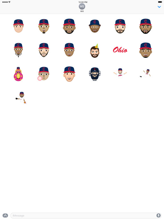 Cleveland Indians 2016 MLB Sticker Pack screenshot 3