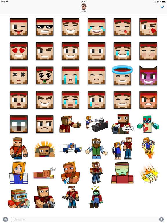 Pixel Gun 3D Stickers: Emoji Pack for iMessage screenshot #2