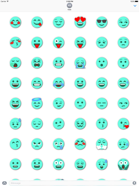 TURQUOISE Emoji • Stickers screenshot 6