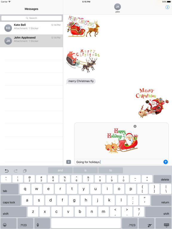 Sleigh Stickers - Christmas Stickers for iMessage screenshot 6
