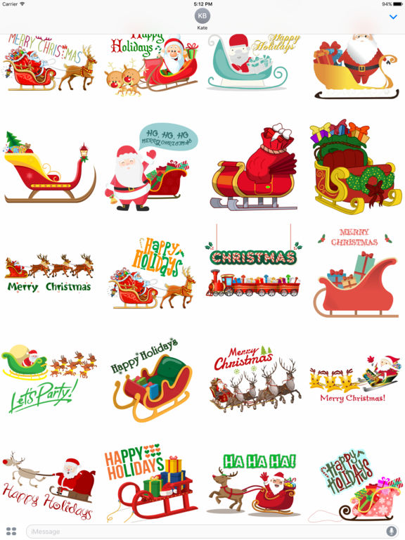 Sleigh Stickers - Christmas Stickers for iMessage screenshot 4