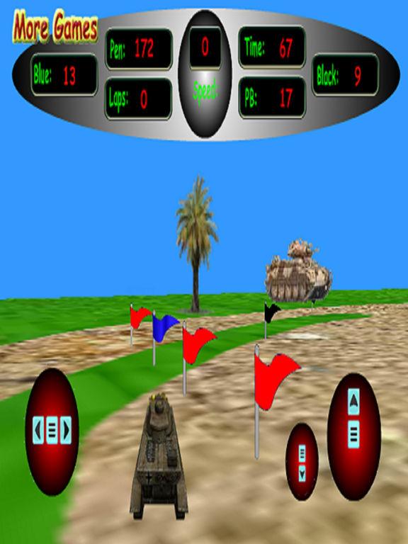 3D Tank Racing - Race Around Track screenshot 2