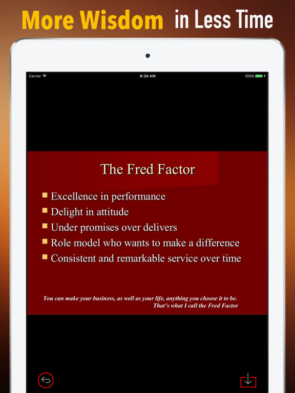 Quick Wisdom from The Fred Factor-Extraordinary screenshot 6